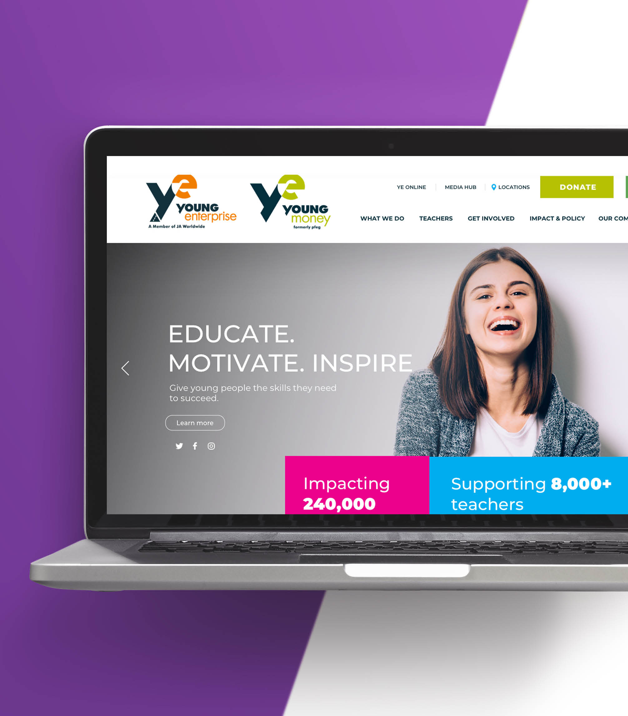 new Young Enterprise website