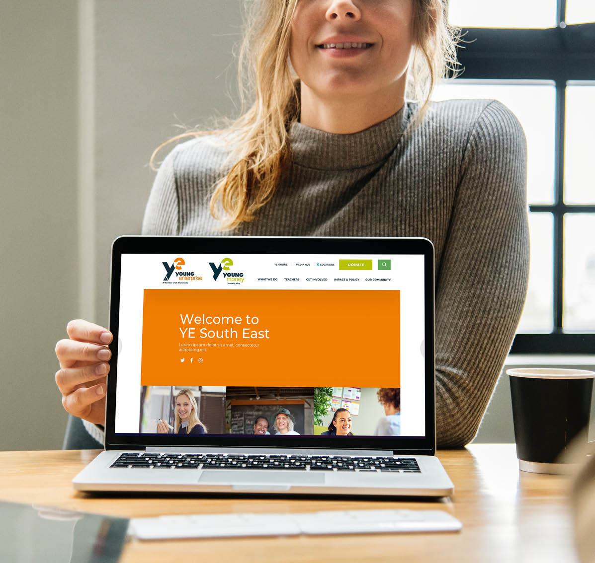 Young Enterprise website on desktop