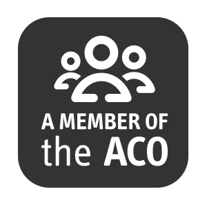 A member of ACO – logo of the Association of Charitable Organisations
