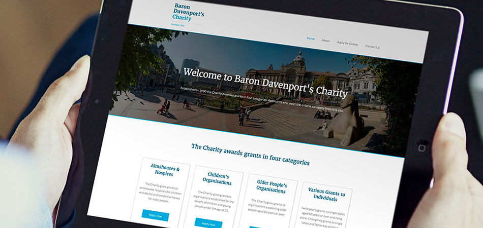 New website for Baron Davenport's Charity by IE Digital