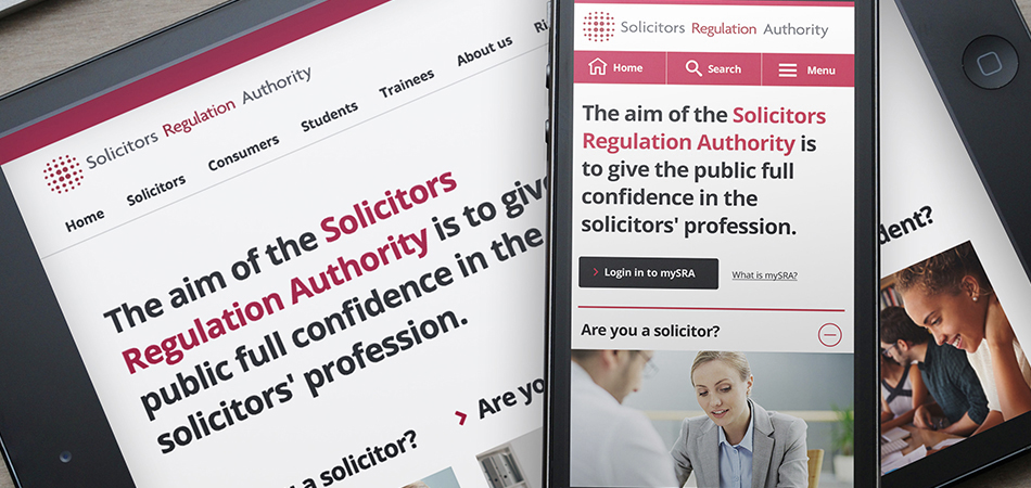 Solicitors Regulation Authority – UX consultancy by IE Digital