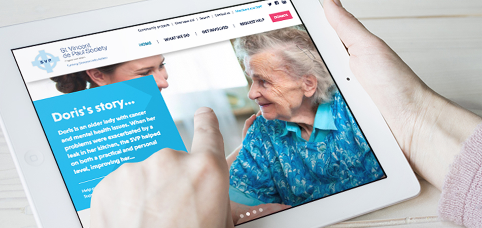 IE Digital designed and developed a new website and UX for befriending charity SVP