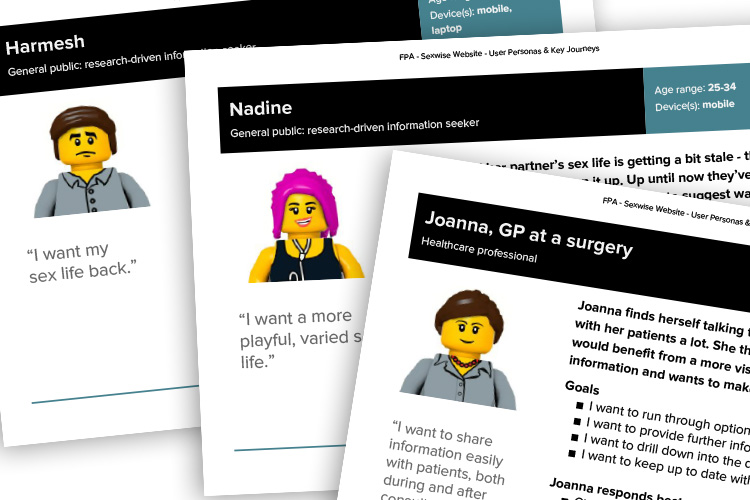 Sexwise user personas for new website – IE Digital