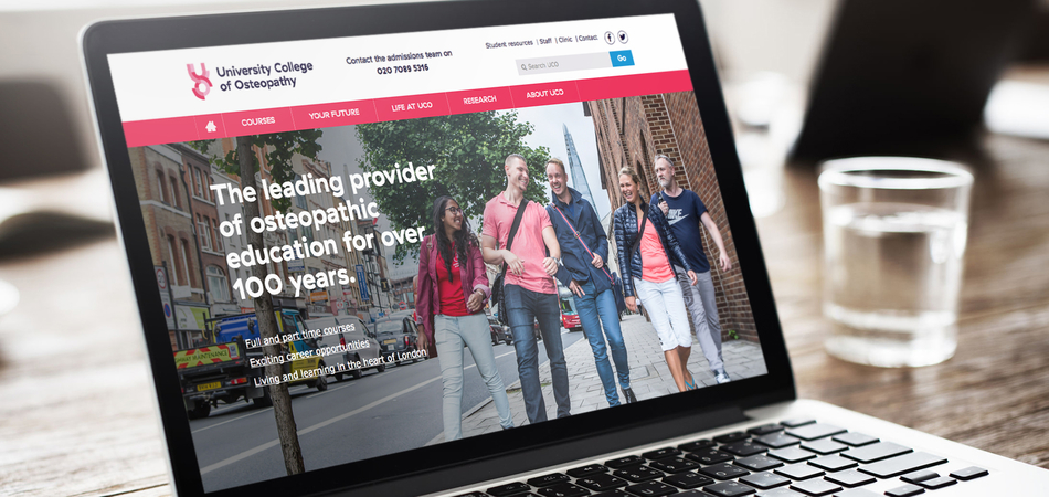 University College of Osteopathy rebrand and website