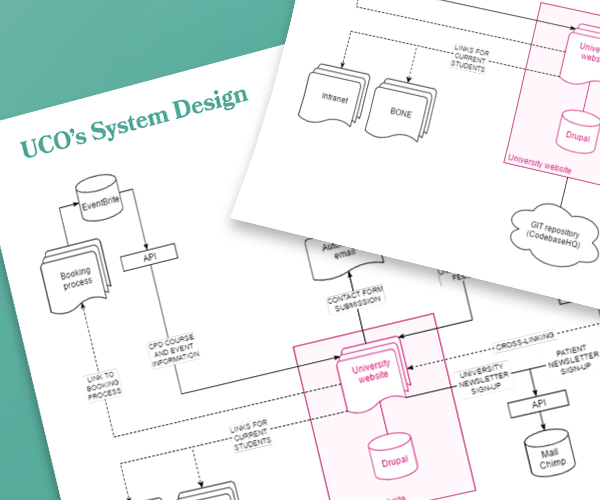 System Design for the new University College of Osteopathy website – IE Digital