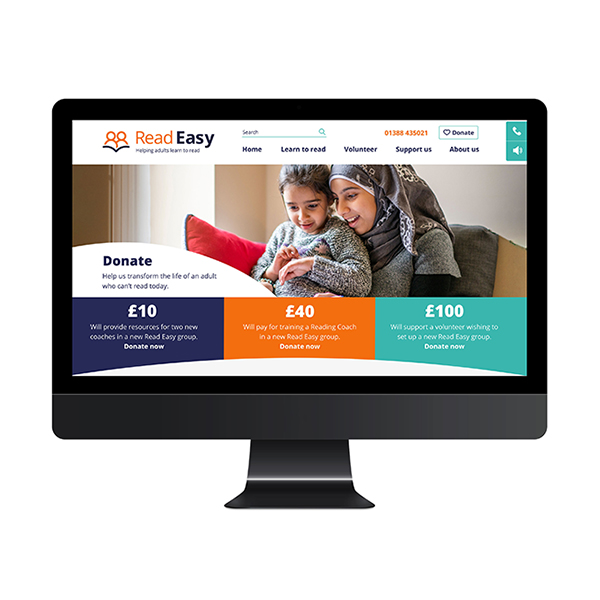 Donation page of Read Easy website