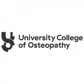 University College of Osteopathy logo in grey, designed by IE Brand