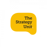 The Strategy Unit logo – black on yellow